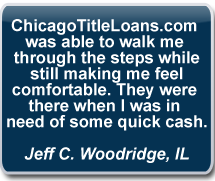 Chicago Title Loans Testimonial